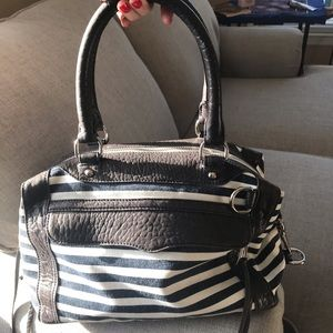 Rebecca Minkoff MAB mini Striped Navy Handbag